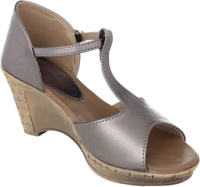 Bare Soles Women Grey Wedges