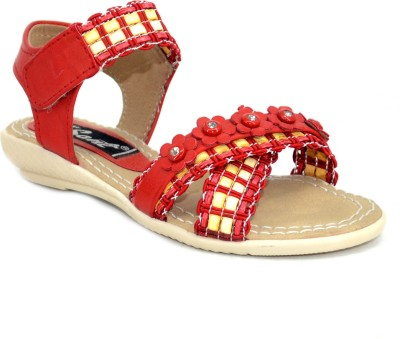 Sant Footwear Baby Girls Red Sandals