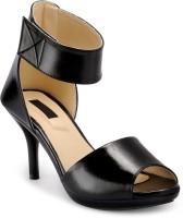 Fashionwalk Women Black, Beige Heels