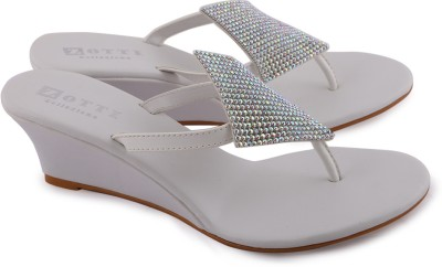 Zotti Sparkle Women White Wedges