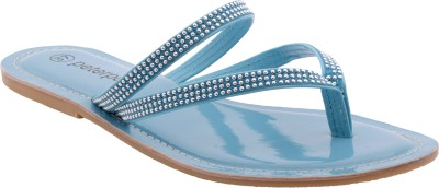 peterpapa Women Blue Flats