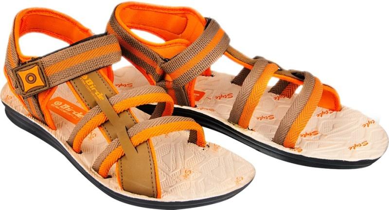 Birde Men Orange Sports Sandals