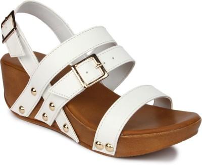JOVE Women White Sandals