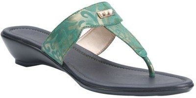 Shoe Bazar Women Green Wedges