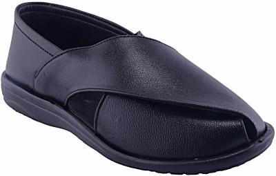 Fabme Men Black Sandals