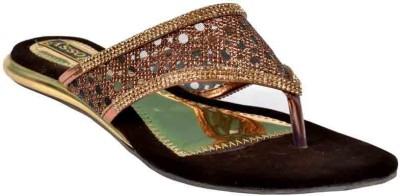 Glossy Women Gold Flats