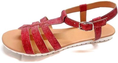 fabfoot Women, Girls Red Flats