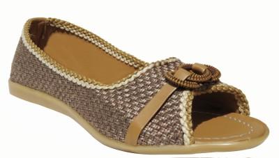 BADA BAZAR Women Brown Flats