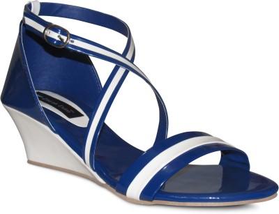 Zikrak Exim Women Blue, White Wedges