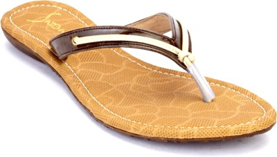 Shibha Footwear Women Brown, White Flats