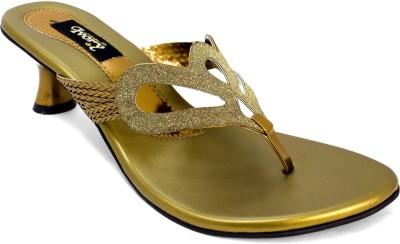 Ivoryfashion Women Gold Heels