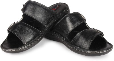 Leather King Newyork Black Men Black Sandals