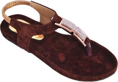 Shoe Dice Women Brown Flats
