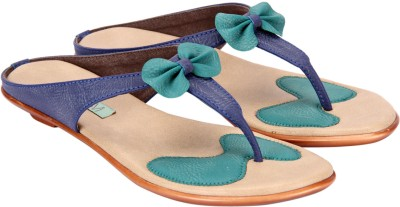 Awssm Women Blue, Green Flats