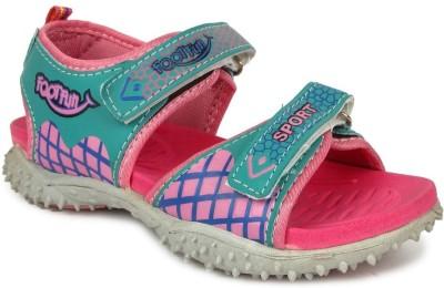 FOOTFUN Boys Pink Sandals