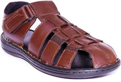Die Cut Men Brown Sandals