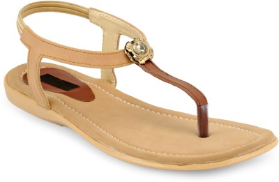 Something Different Women Beige, Brown Flats