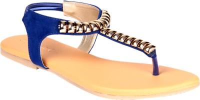 Soft & Sleek Blue Girls Blue Flats