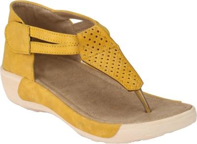 Afrojack Women Yellow Flats