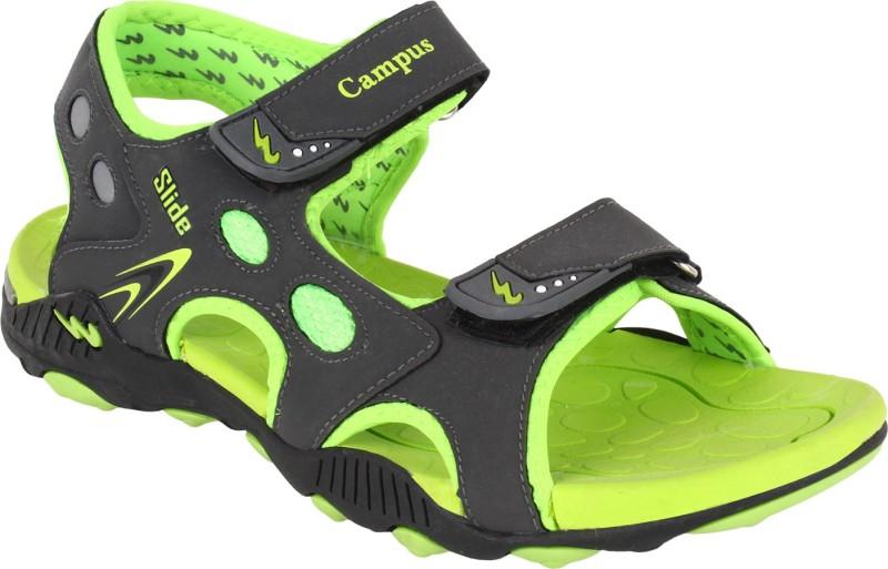Campus Men Grey Green Sandals