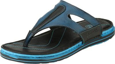 Ronaldo Fire Men Black, Blue Sandals