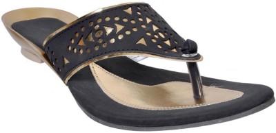 Fescon Women Black Sandals