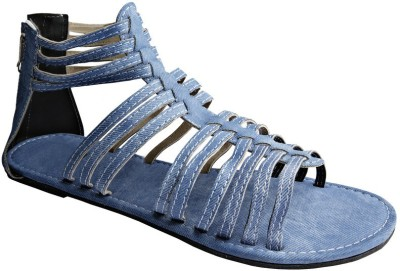 Tatter Angel Women Blue Flats