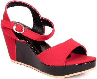 Ignis Simple Wedge Women Red Wedges