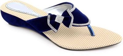 Shoe Lab Women Blue Wedges