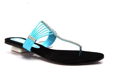 Laila Collections LATE005090BLW Women Blue Flats