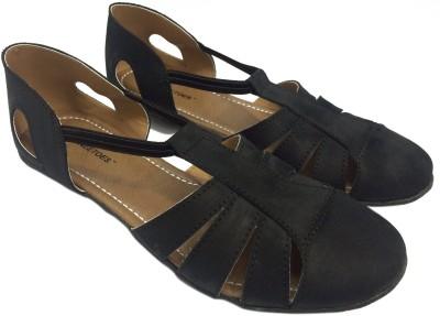 KNEETOES Girls Black Flats