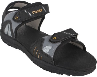 Action Campus Men Black, Gold Sandals