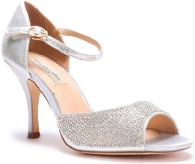 SOULIER CARTE Women Silver Heels