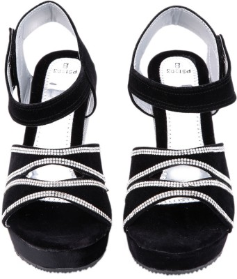 Luca Fashion Women Black Wedges