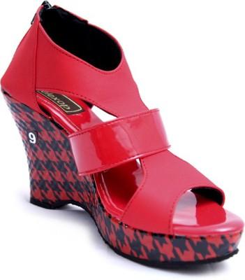 Relexop Women Red Wedges