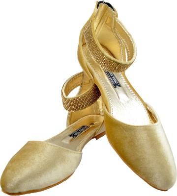 Leatherwood1 Women Gold Flats