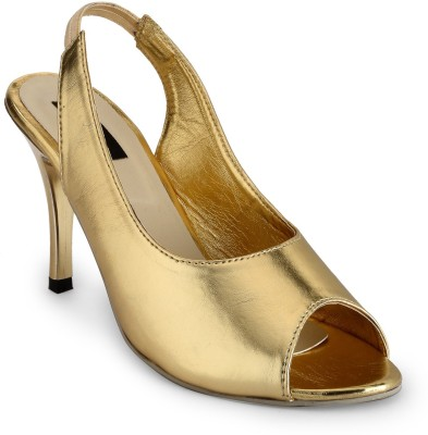 Something Different Women Gold Heels