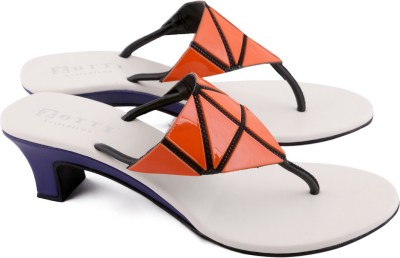 Zotti May Women Orange, Purple Heels