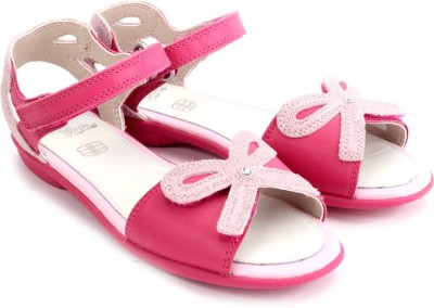 Clarks Orra Dream Inf Hot Pink Leathe Girls Pink Flats
