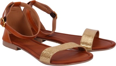 FASHION MAFIA Girls Tan Flats
