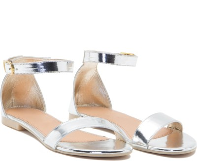 ALETA Women Silver Flats