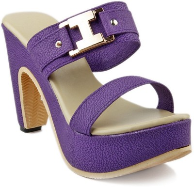Unique Selection Women Purple Heels