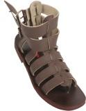 Stiletto Men Brown Sandals
