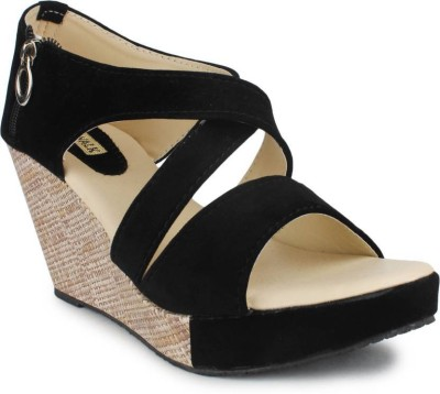 Skywalk Women Black Wedges
