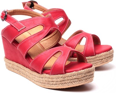 Ruby Women Red Wedges