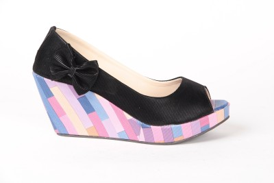 Anand Archies AA-VS-257- Women Black Wedges