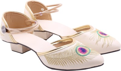 Royal Collection Women Beige Heels