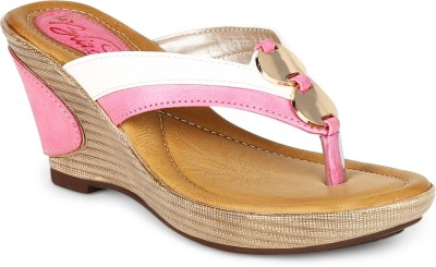 La Briza Women PINK Wedges at flipkart