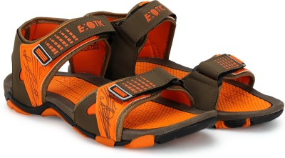 Exotic Men Orange, Brown Sandals