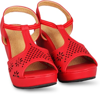 Anand Archies Girls Red Wedges